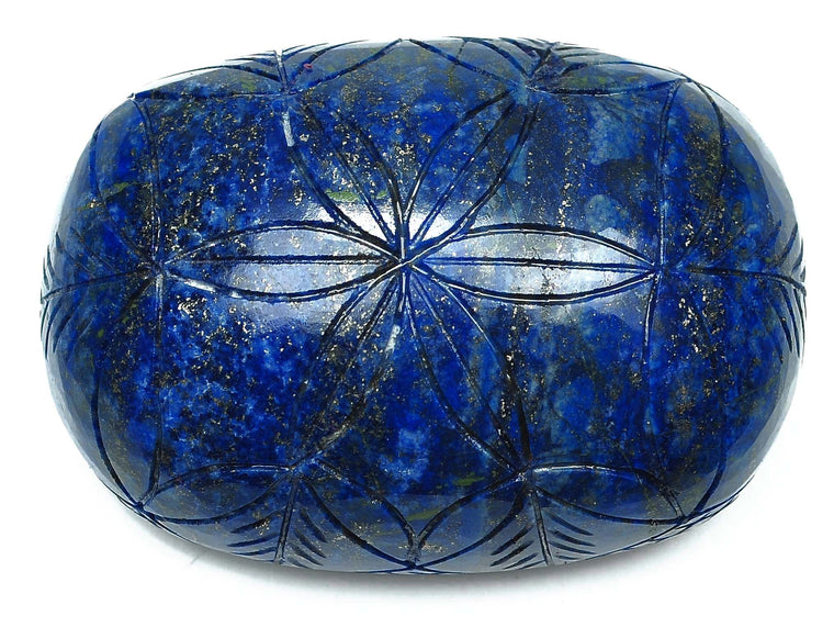 100% CERTIFIED ~ 1210.00 CARATS MUSEUM SIZE NATURAL LAPIS LAZULI CARVED OVAL SHAPE LOOSE GEMSTONE