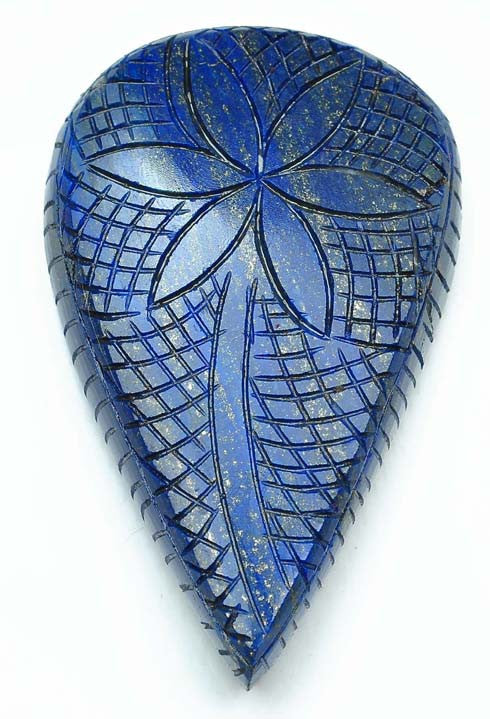 1010.00 CARATS 100% NATURAL LAPIS LAZULI HAND CARVED PEAR SHAPE LOOSE GEMSTONE WITH FREE CERTIFICATE