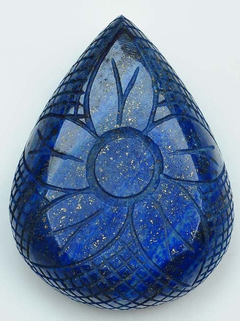670.35 CARATS 100% NATURAL LAPIS LAZULI HAND CARVED PEAR SHAPE LOOSE GEMSTONE WITH FREE CERTIFICATE