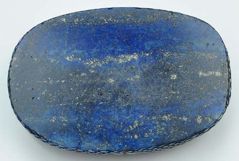 100% CERTIFIED NATURAL BRAZILIAN LAPIS LAZULI CARVED 975.75 CARATS OVAL SHAPE LOOSE GEMSTONE