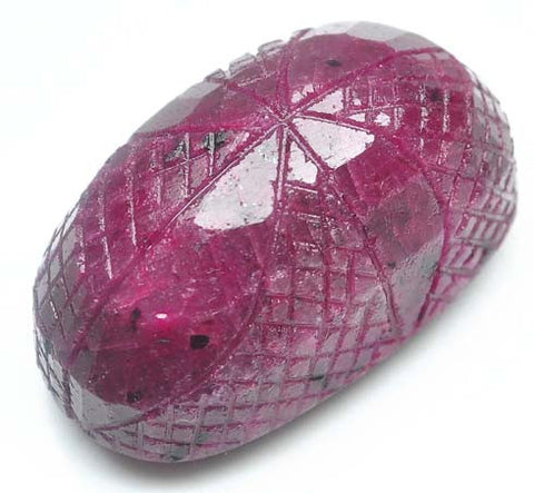 379.50 CARATS OVAL CUT NATURAL RED RUBY CARVED LOOSE GEMSTONE WITH FREE CERTIFICATE
