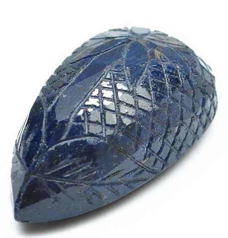 100% CERTIFIED PEAR SHAPE 508.90 CARATS NATURAL BLUE SAPPHIRE CARVED LOOSE GEMSTONE