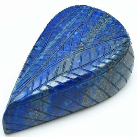 519.20 CARATS 100% NATURAL LAPIS LAZULI CARVED PEAR SHAPE LOOSE GEMSTONE WITH CERTIFICATE