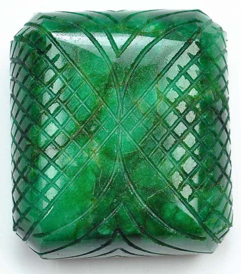 485.50 CARATS 100% NATURAL GREEN EMERALD CARVED OCTAGON SHAPE LOOSE GEMSTONE WITH FREE CERTIFICATE