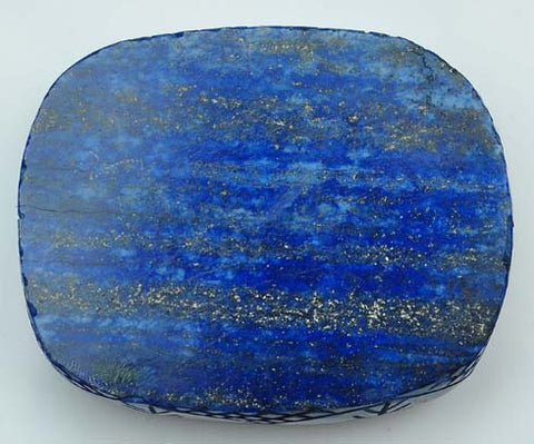 100% CERTIFIED ~ MUSEUM SIZE NATURAL LAPIS LAZULI CARVED 819.15 CARATS CUSHION SHAPE LOOSE GEMSTONE