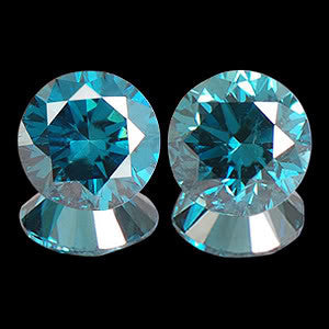 CERTIFIED ROUND SHAPE 0.12 CARAT 100% NATURAL LOOSE BLUE DIAMOND PAIR