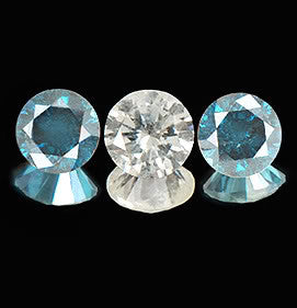 CERTIFIED 0.45CT ROUND SHAPE WHOLESALE 3 PCS. SET 100% NATURAL LOOSE BLUE & WHITE DIAMOND