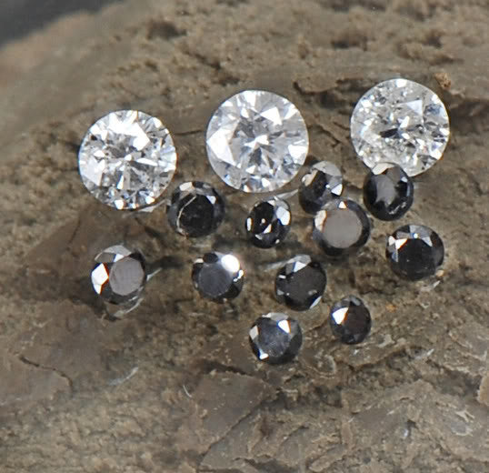 0.50CT BRILLIANT ROUND SHAPE 100% NATURAL LOOSE BLACK & WHITE DIAMOND LOT WITH FREE CERTIFICATE