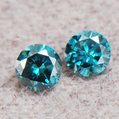 CERTIFIED 0.30 CARAT ROUND SHAPE 100% NATURAL LOOSE BLUE DIAMOND PAIR