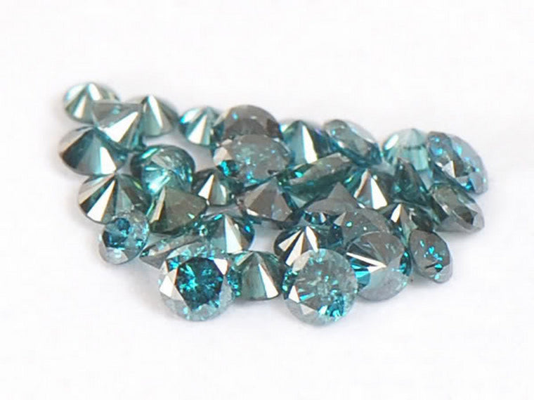 0.50CT. ROUND SHAPE 100% NATURAL LOOSE BLUE DIAMOND WHOLESALE LOT WITH FREE CERTIFICATE