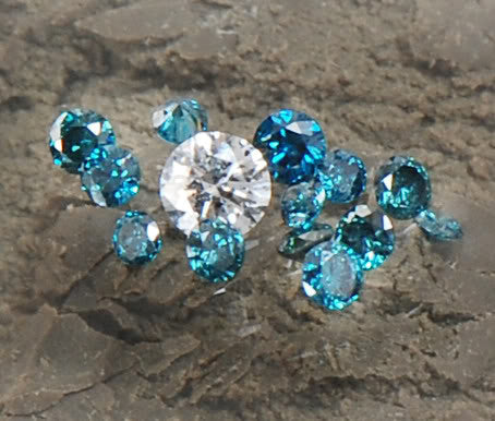 CERTIFIED 0.50CT ROUND SHAPE WHOLESALE LOT 100% NATURAL LOOSE BLUE & WHITE DIAMOND