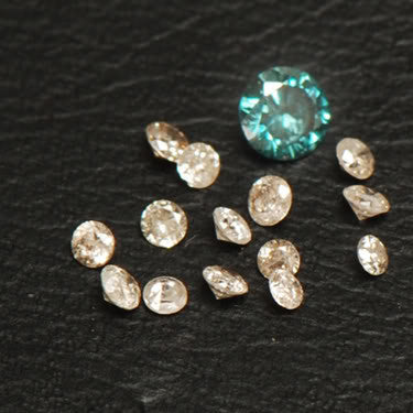 0.25CT WHOLESALE LOT ROUND SHAPE LOOSE 100% NATURAL BLUE & WHITE DIAMOND WITH FREE CERTIFICATE