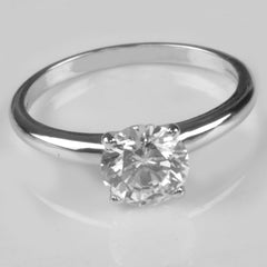 1.65 CARATS ROUND SHAPE 14KT SOLID GOLD SOLITAIRE WEDDING RING