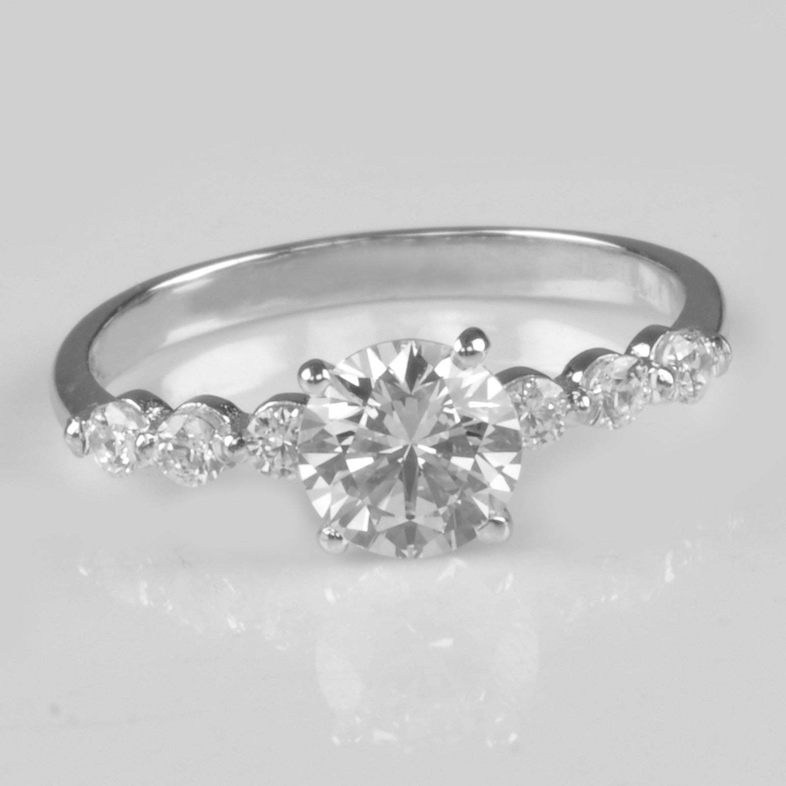 14KT SOLID GOLD 2.60 CARATS SOLITAIRE EXCELLENT ROUND SHAPE WEDDING RING