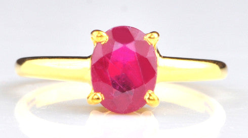1.75 CARATS REAL 14KT SOLID GOLD OVAL SHAPE NATURAL RED RUBY RING WITH FREE CERTIFICATE