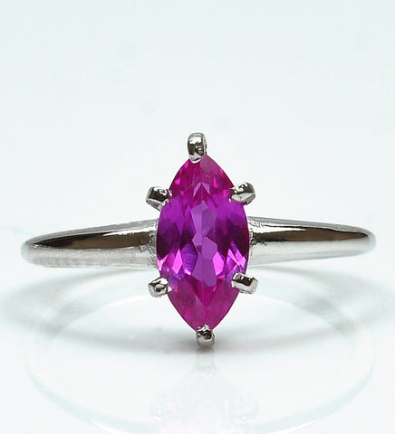 1.50 CARATS MARQUISE SHAPE 18KT SOLID GOLD REAL NATURAL PINK TOURMALINE WOMEN'S RING