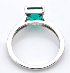 14KT SOLID GOLD 1.30 CARATS OCTAGON SHAPE REAL NATURAL GREEN EMERALD RING WITH FREE CERTIFICATE