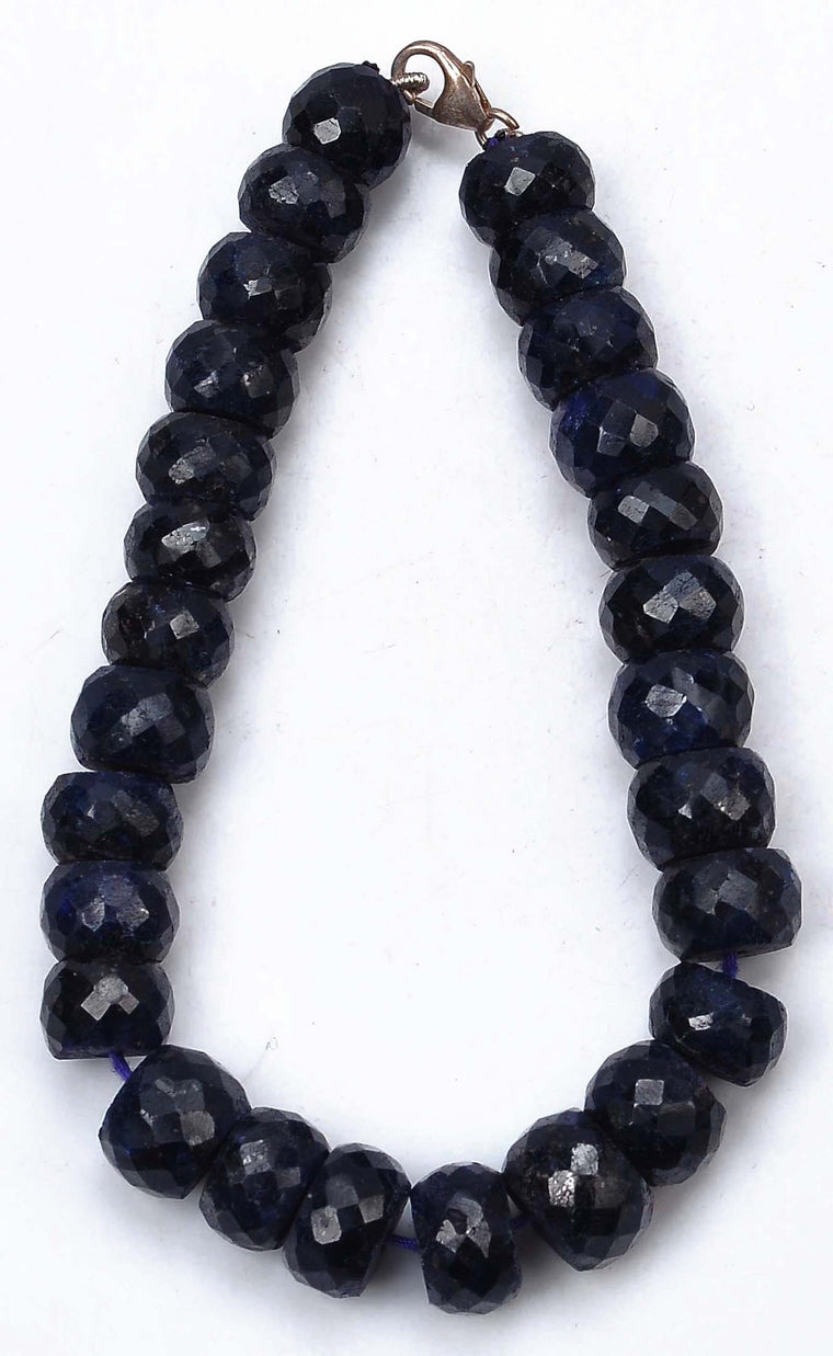 250.00 CARATS NATURAL BLUE SAPPHIRE FACETED ROUND SHAPE GEMSTONES BRACELET