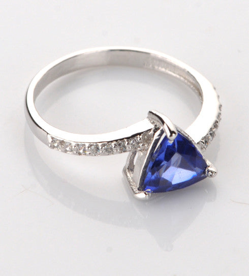 14KT SOLID GOLD 1.45 CARATS REAL NATURAL BLUE TANZANITE & EGL CERTIFIED DIAMOND RING
