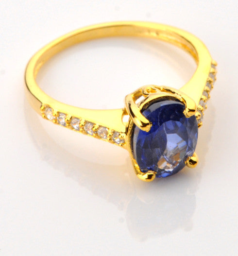 2.50 CARATS OVAL SHAPE 14KT SOLID GOLD REAL NATURAL BLUE TANZANITE & EGL CERTIFIED DIAMOND RING