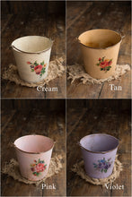 Double-sided Floral Aged Pail-Original