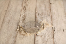Whitewashed Wire Basket