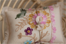 Embroidered Floral Pillow Set
