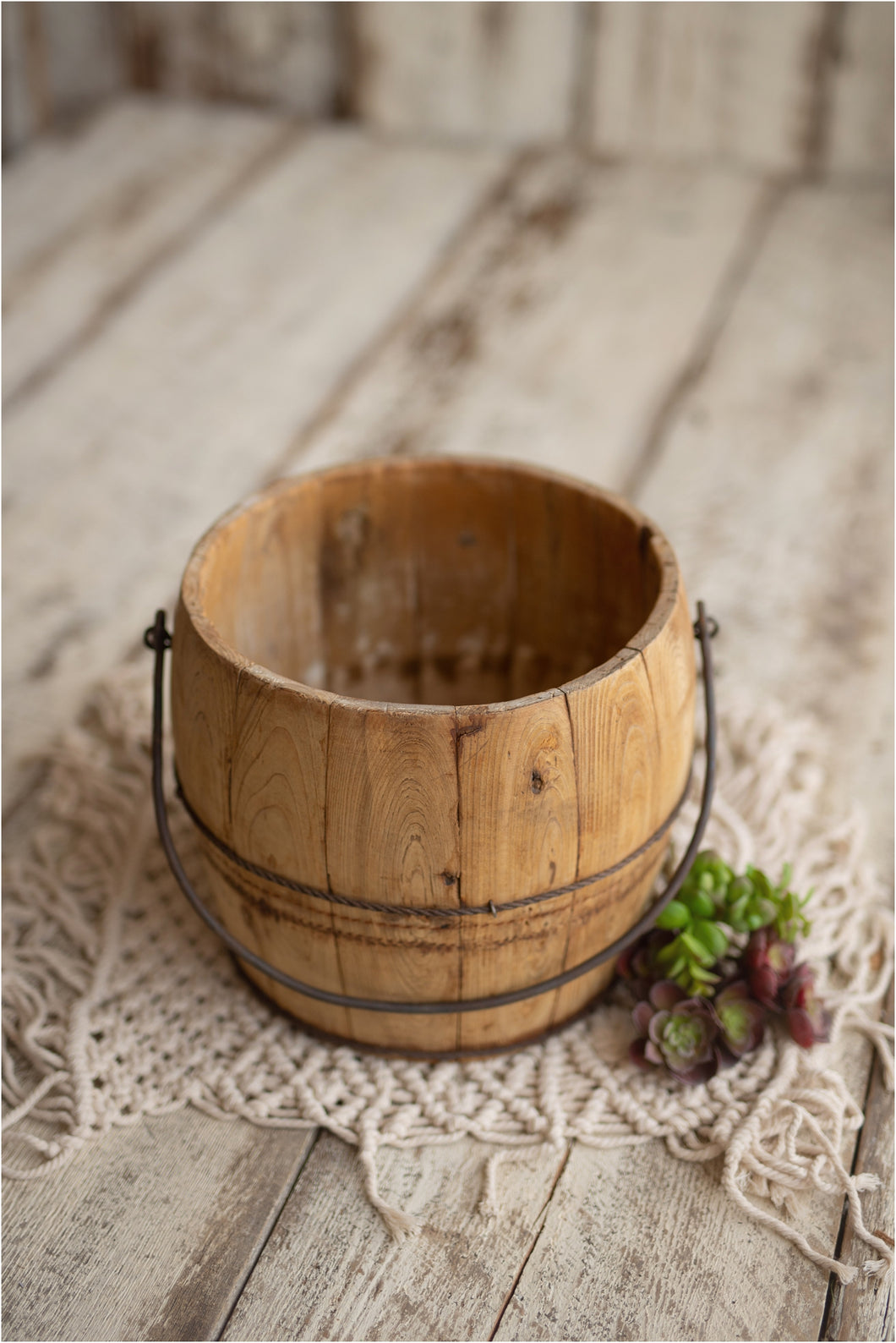 Wooden Water Bucket