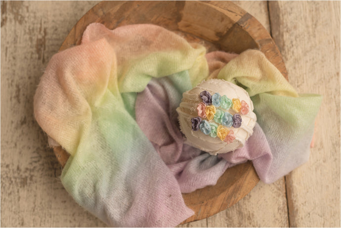 Rainbow Wrap and Headband Set