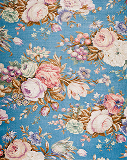 Blue Flowers Backdrop Fabric