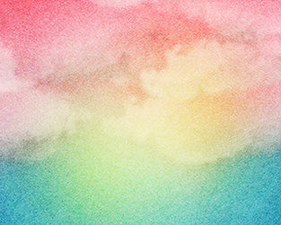 Watercolor Rainbow Backdrop Fabric
