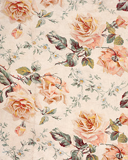 Peach Flowers Backdrop Fabric