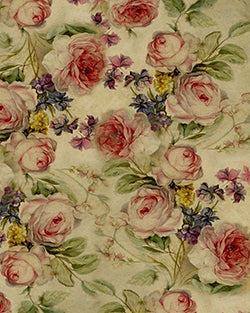Vintage Green Flowers Backdrop Fabric