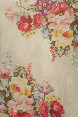 Vintage Spring Garden Backdrop Fabric