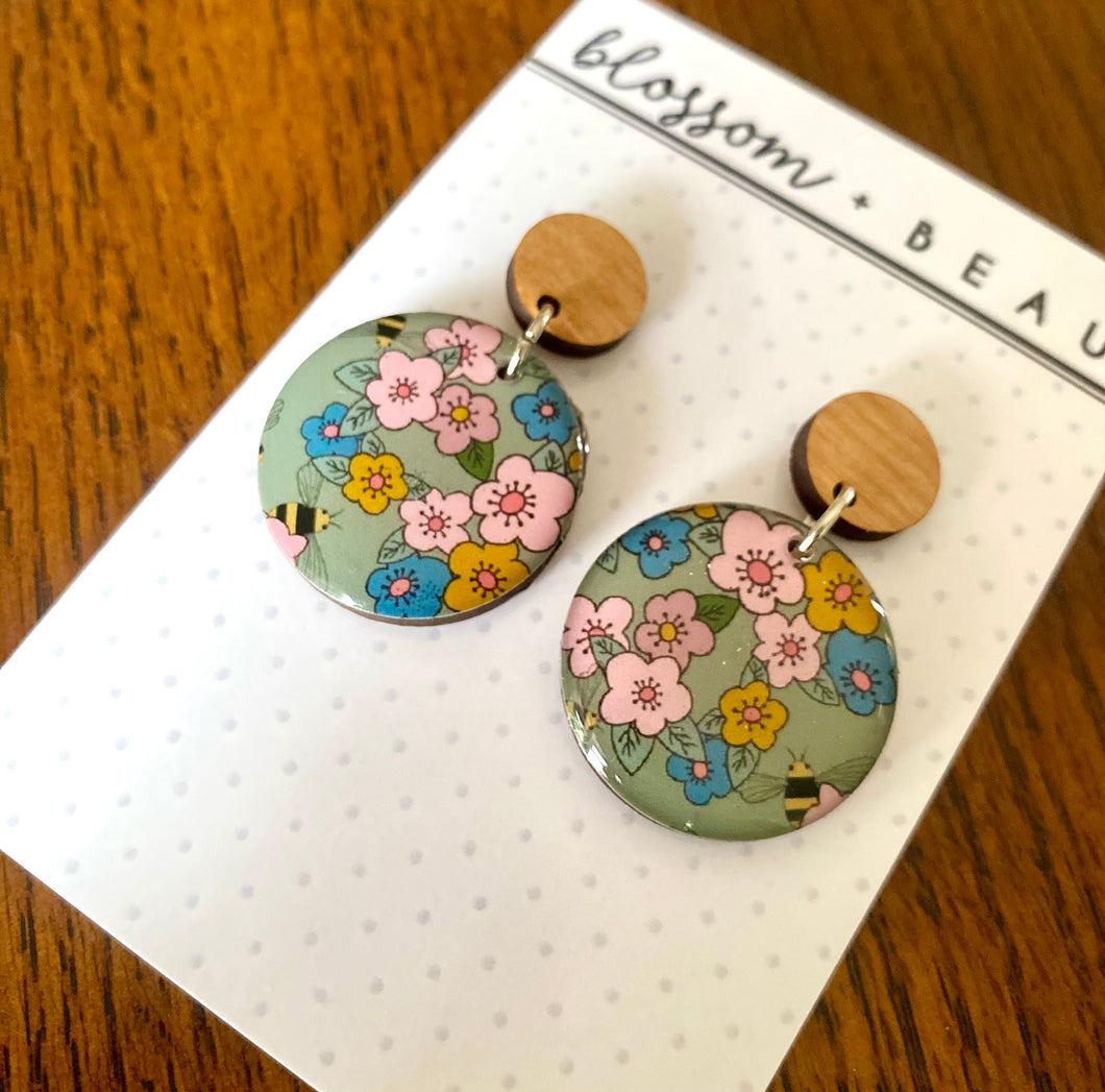 Florals Resin Dangles