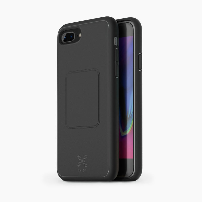 iPhone 8 Plus Magnetic Case compatible with wireless charging car mounts, qi chargers