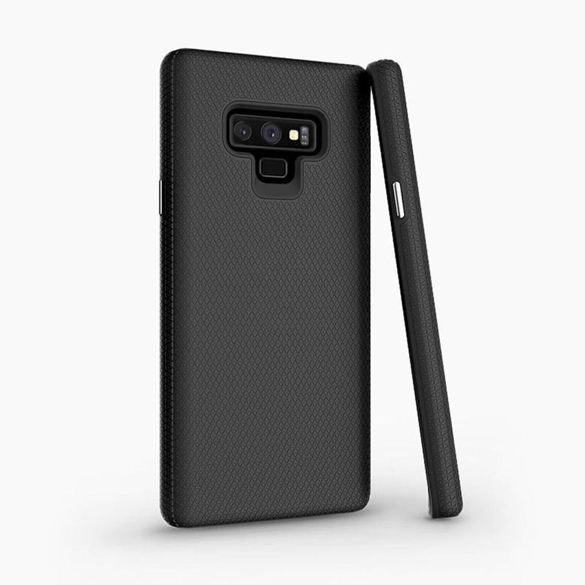 magnetic backed phone case for the Note 9 shock-absorbent TPU, compatible with S-pen, wireless charging docks