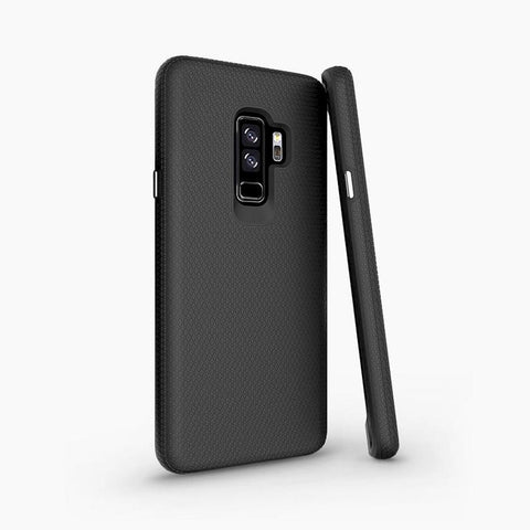 Samsung Galaxy S9+ Case Featuring a magnetic back, compatible with magnetic wireless charging car holders and stands