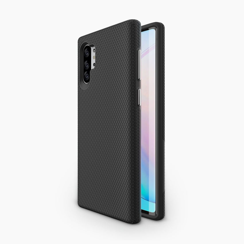 magnetic backed phone case for the Samsung Note10+ shock-absorbent TPU, compatible with S-pen, wireless charging docks