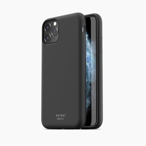 iPhone 11 Pro phone case soft silicone magnetic slim compatible with wireless charging iPhone 11 Pro case with magnetic back BLACK