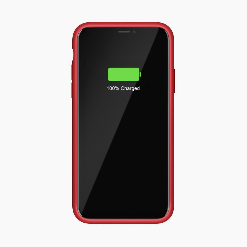 Liquid Silicone Full Protective Magnetic Phone Case for iPhone 11 Red