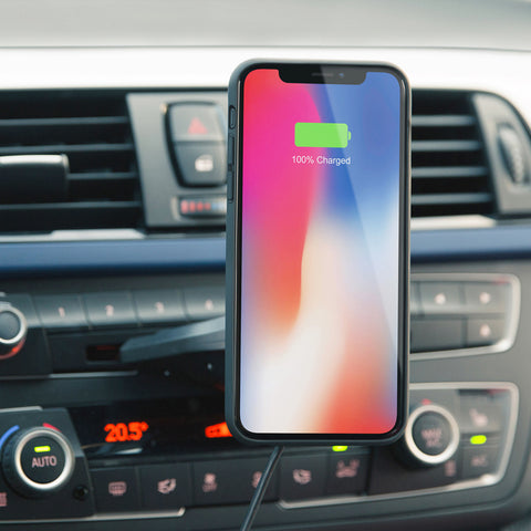 iPhone 11 / 11 Pro / 11 Pro Max / XS / Xs Max / XR / Galaxy S10 / S10+ / S10e magnetic wireless car qi charger mount holder (up to 12 W)
