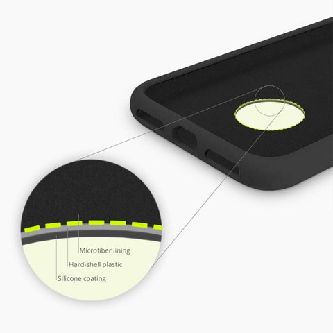 Magnetic Silicone Wireless Charging Case for iPhone XS Max