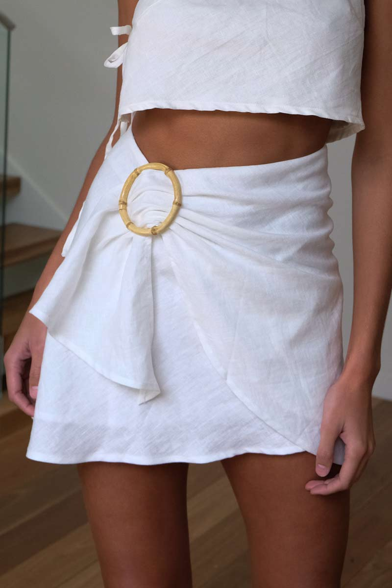Kiera Cream Skirt