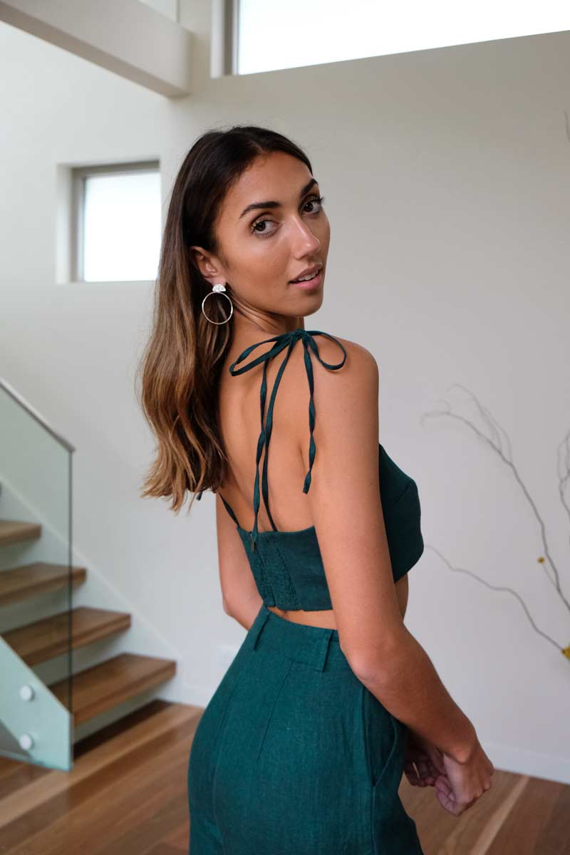 Jessie Emerald Bandeau Top