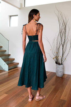 Bella Emerald Skirt