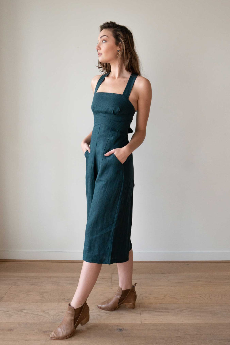 Harper Emerald Green Jumpsuit