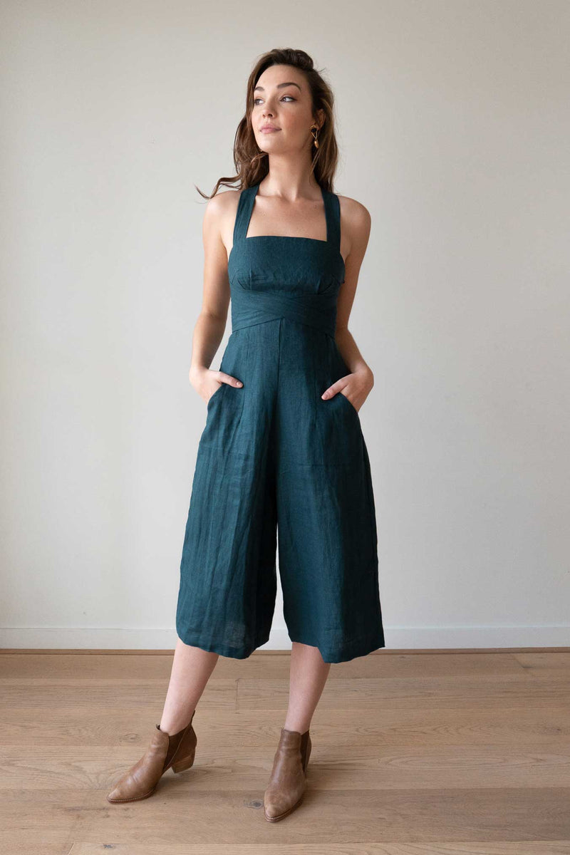Harper Forest Green Jumpsuit