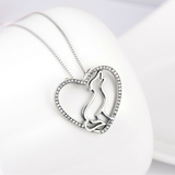 LIMITED EDITION 925 Sterling Silver Wolf Heart Necklace