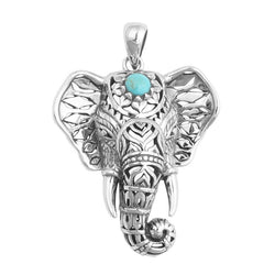Antique Elephant Pendant Necklace